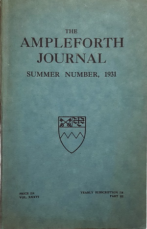 Cover for Volume 36 (1931)